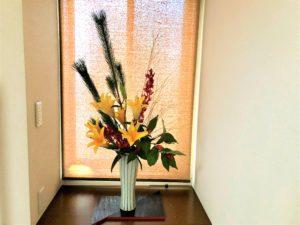 お正月用生け花〈玄関編〉花材と花瓶と生け方について。