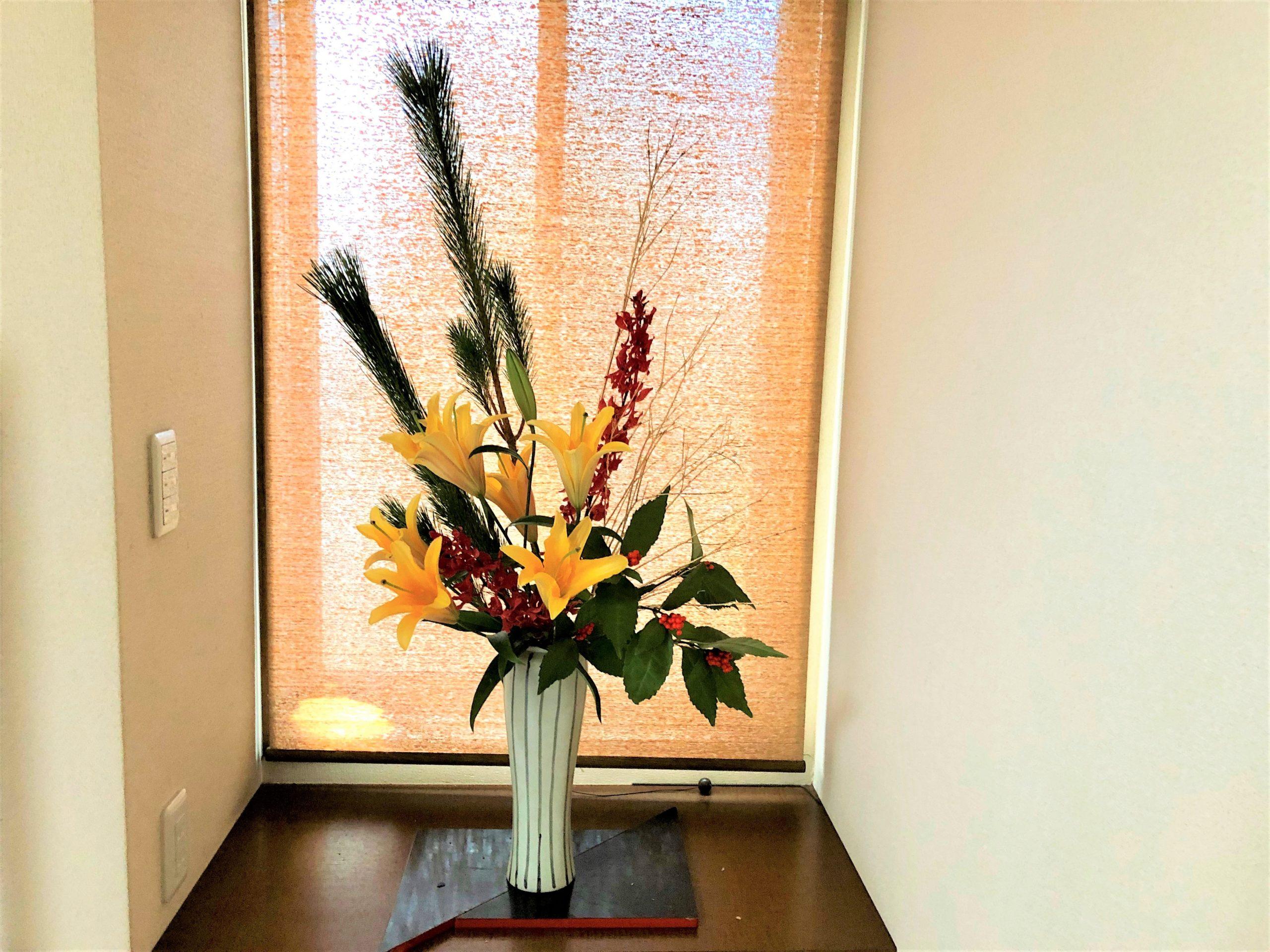 玄関用お正月花