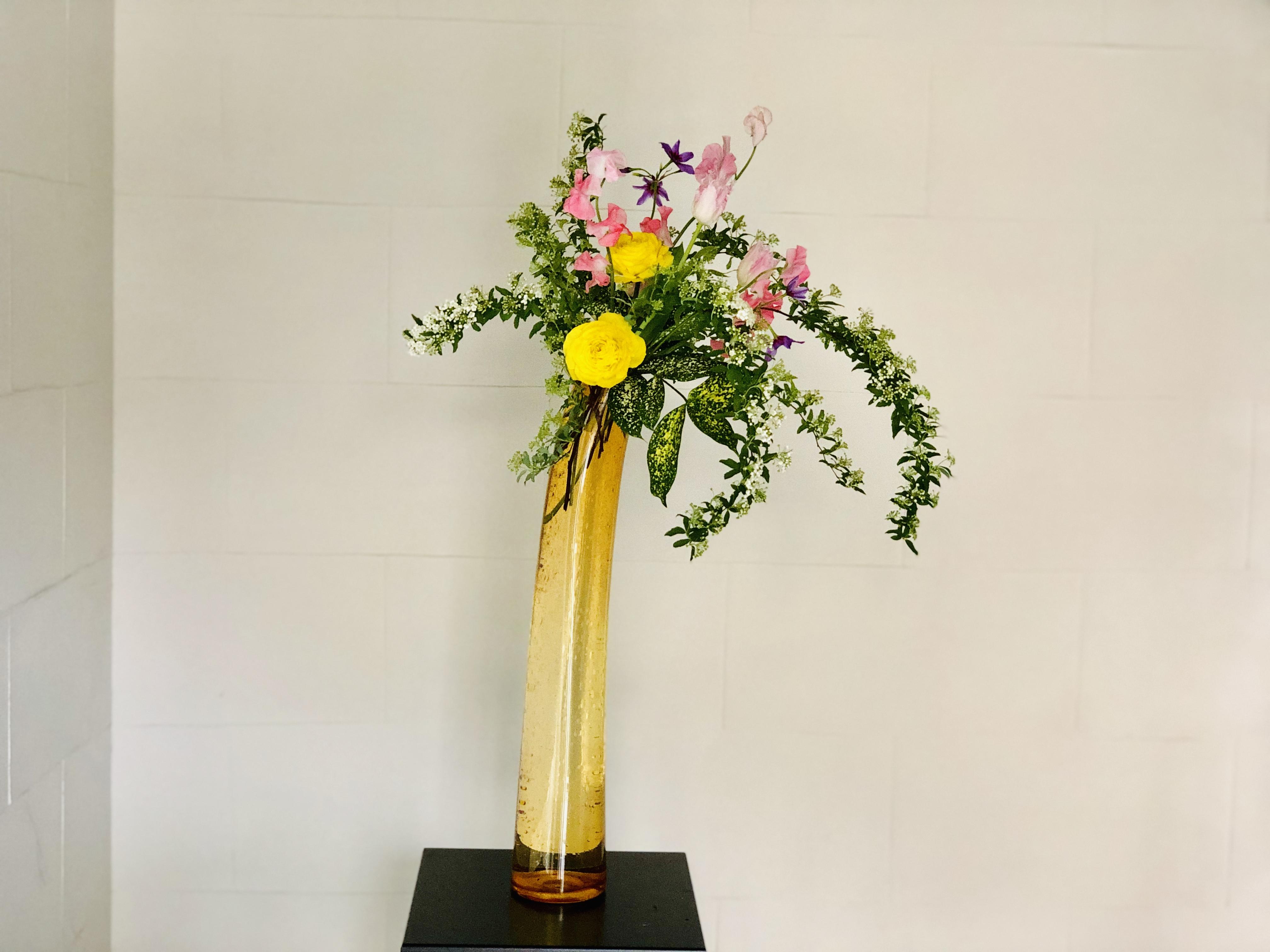 春爛漫な生け花