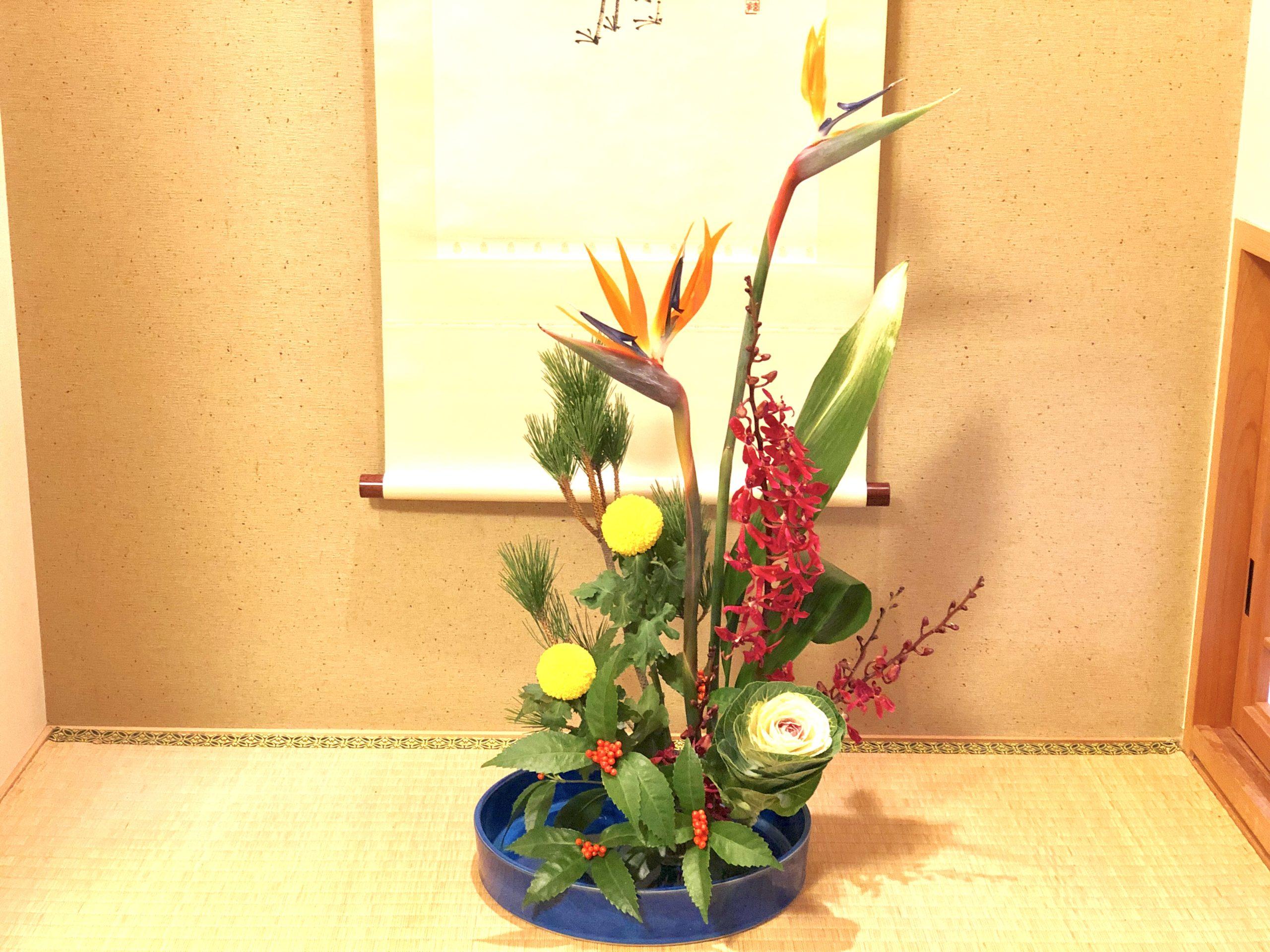 和室におすすめのお正月花