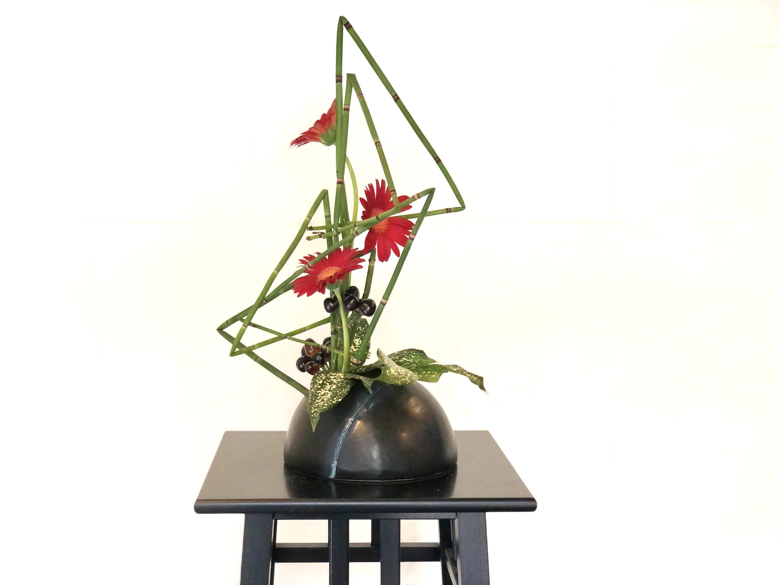 トクサを使った生け花
