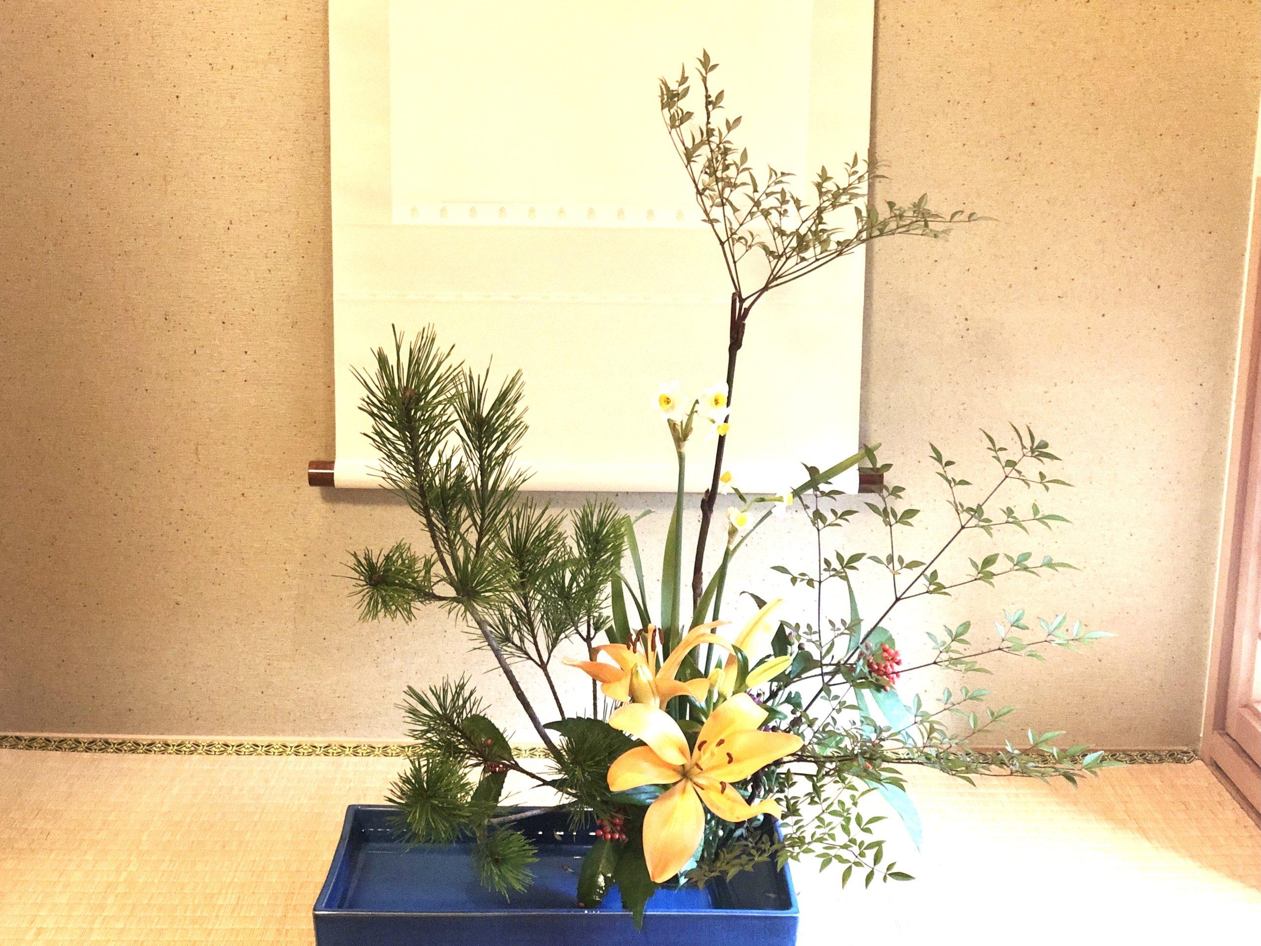 正統派の生け花
