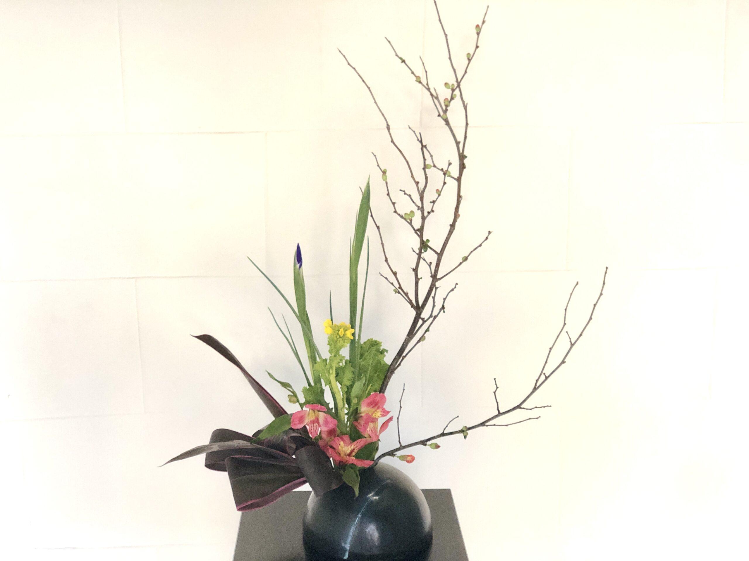カラフルな花材
