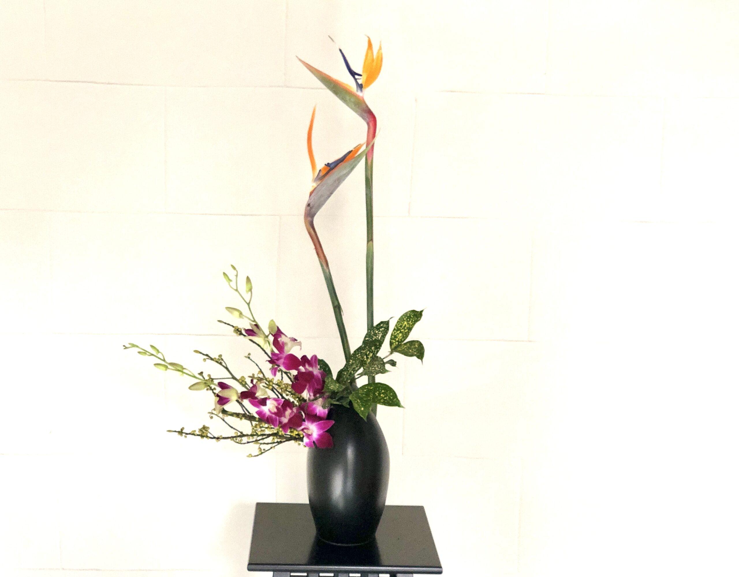 ストレリチアの生け花