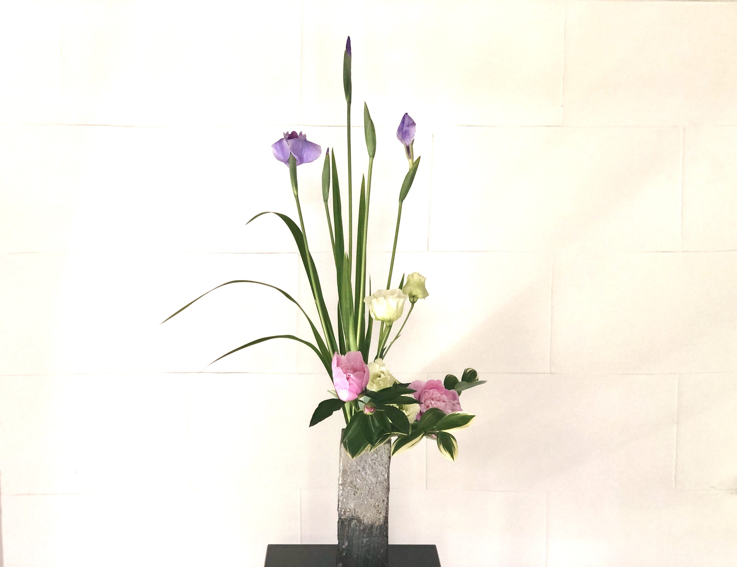 花菖蒲の生け花