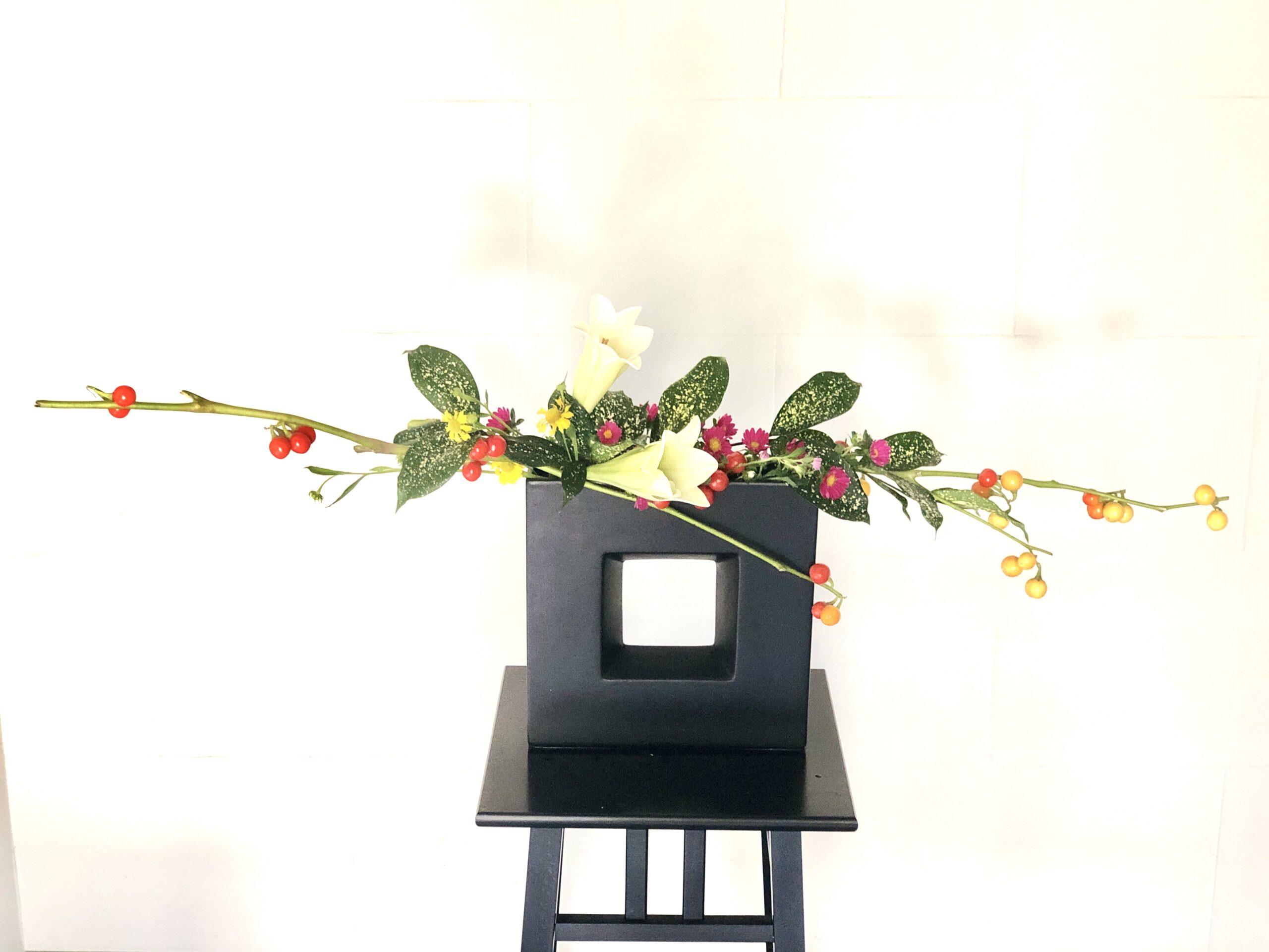 花ナスの生け花